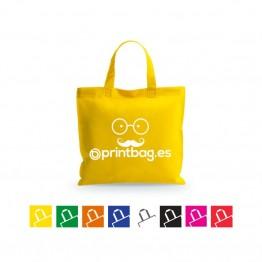 Bolsas de tela amarilla económicas termoselladas