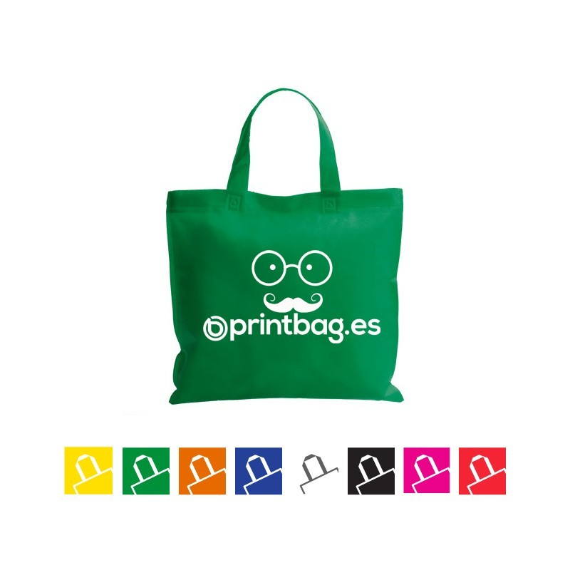 Bolsas de tela verdes económicas termoselladas
