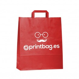 Bolsa de papel personalizada rojas