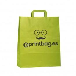 Bolsa de papel personalizadas pistacho