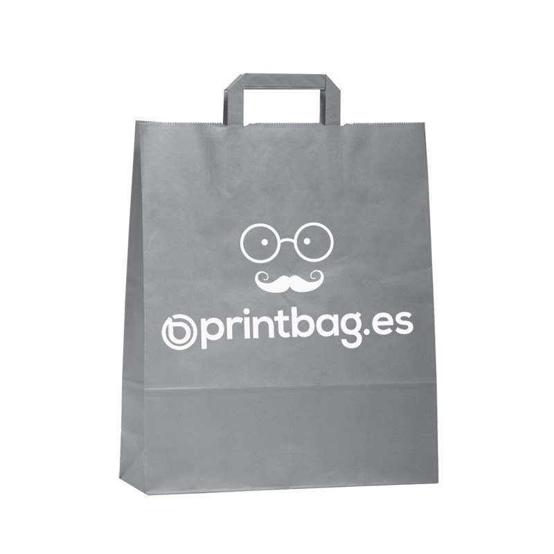 bolsas papel personalizadas color plata