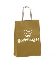 Bolsas papel color oro personalizada