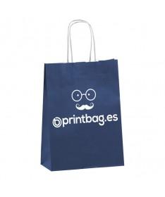 bolsa de papel personalizada azul