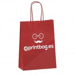 Bolsas personalizadas rojas de papel kraft