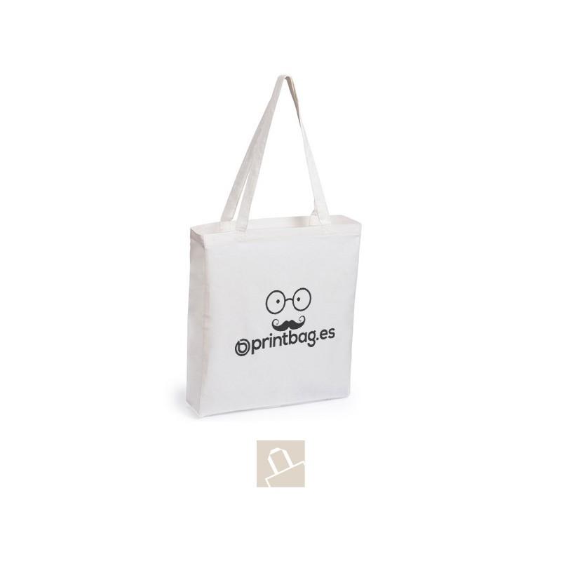Bolsas de algodón natural con fuelle