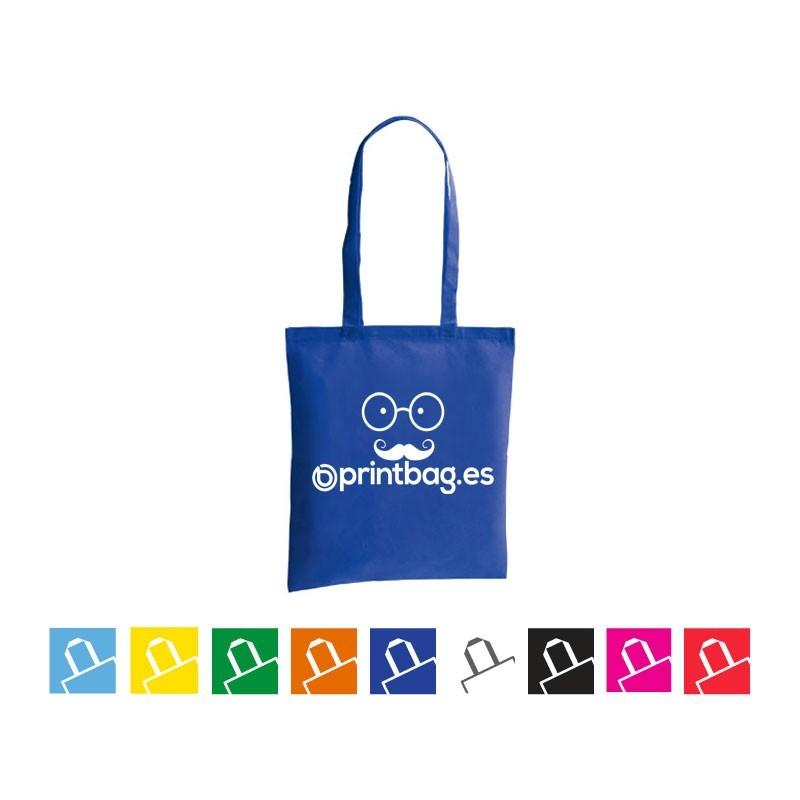 Bolsas de tela publicitarias economicas azules