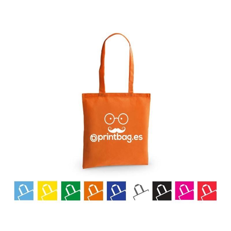 Bolsas de tela publicitarias economicas naranja